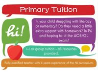 Primary Tuition for KS2/Transfer Test
