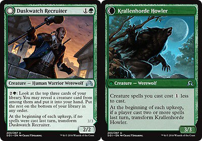MTG: Duskwatch Recruiter - Green Uncommon - Shadows over Innistrad - SOI - Magic