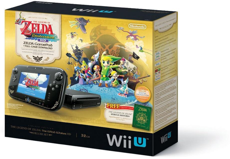 Nintendo Wii U The Legend Of Zelda The Wind Waker Hd Deluxe Set 32gb Black Handheld System