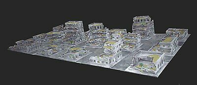 War game terrain suitable for use with 40k, 4x2 cityscape