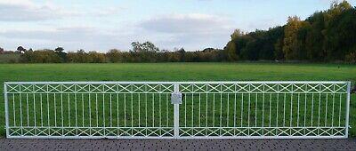 Garden Gates Yard Metal Modern Crossline-FT600/100 Galvanised 600 CM Width