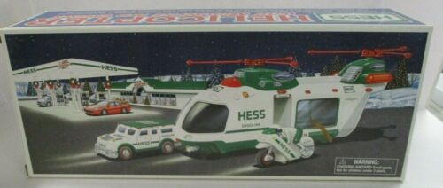 2001 HESS Helicopter with Motorcrycle and Cruiser  - Pre Owned!