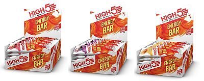 High 5 Energy Bars Vegetarian Sports Nutrition Supplement Exercise Gym Running