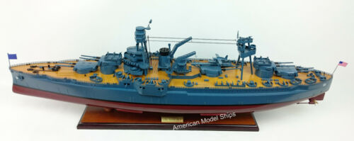 USS TEXAS (BB-35) Battleship Scale 1:200 Handcrafted Wooden Ship Model