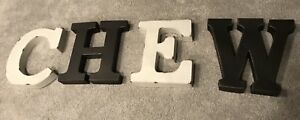 Big metal antique letters