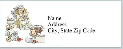 Personalized Address Labels Cat Lady Buy 3 Get 1 Free Bx 616