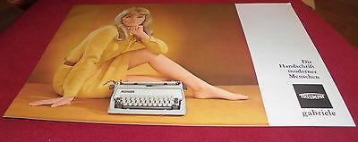 dachbodenfund prospekt faltblatt triumph gabriele schreibmaschine alt reklame