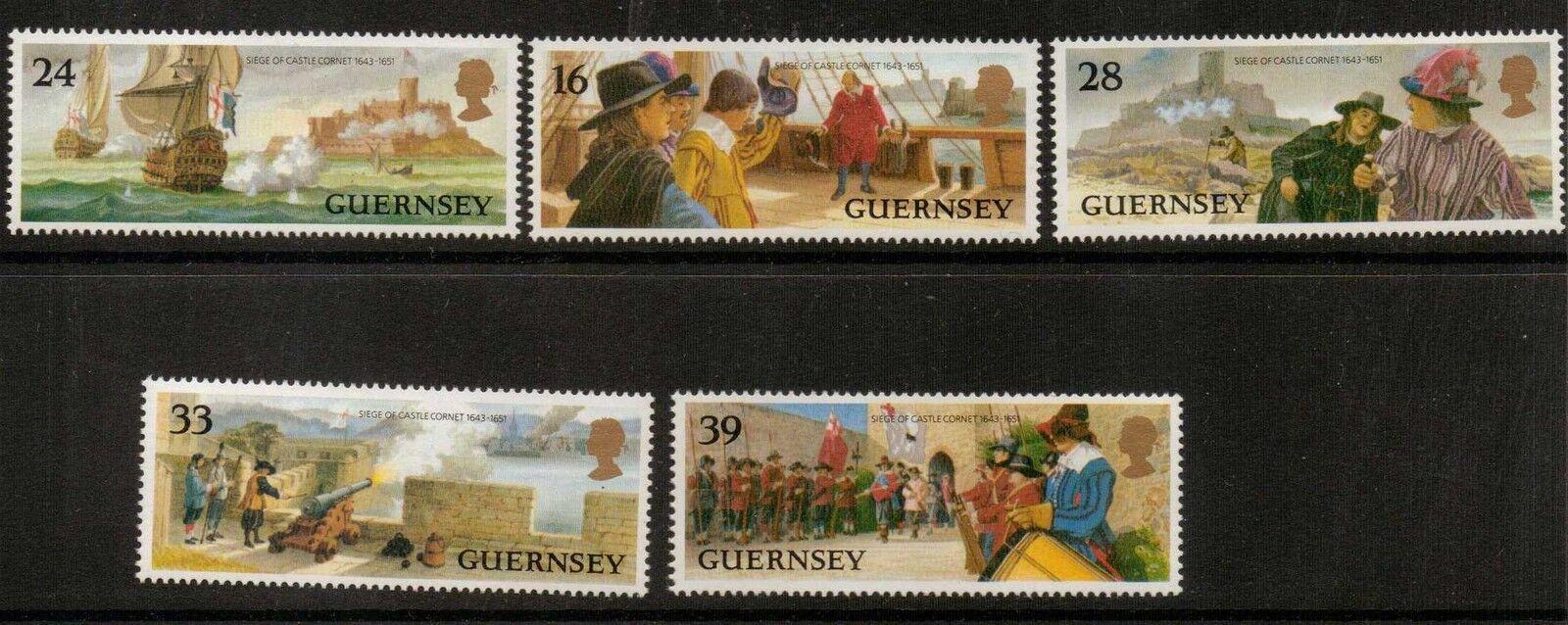 GUERNSEY SG611/5 1993 SIEGE OF CASTLE CORNET MNH