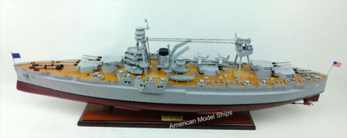 USS NEW YORK (BB-34) Battleship Model Scale 1:200 Handcrafted Wooden Ship Model