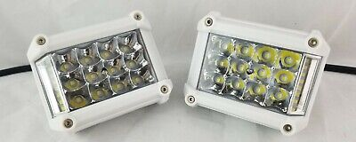 2X 18W PODS LED CREE WHITE MARINE BOAT PONTOON DOCK SPOT LIGHTS YACHT SET PAIR
