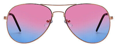Aviator Sunglasses MultiColored Lens Metal Gold Silver Black Frame Classic (Multi Colored Lens Sunglasses)
