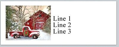 Personalized Address Labels Christmas Barn And Truck Buy 3 Get 1 Free Jx 65