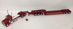 Peterbilt 389 day cab with XL Cheater Lowboy w/Jeep color: Red