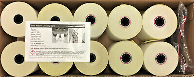 Pm Company Impact Printing Carbonless Paper Rolls3 X 90 Ft Whitecanary10pk