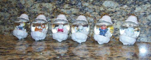 Enesco Rudolph Red-Nosed Reindeer Waterball Snow Globe Christmas Tree Ornaments