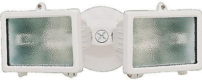 Heath Zenith HZ-5502-WH 150 Watt Twin Halogen Outdoor Security Flood Light