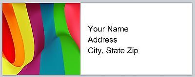 - Personalized Address labels Abstract Rainbow design Buy 3 Get 1 Free (c 919)