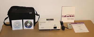 Epson PowerLite 1705 LCD Projector.With Vinyl Bag,Power cord, CDs,Remote,Manual