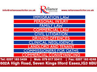 RELIANCE SOLICITORS | SPECIALISE IN IMMIGRATION-PERSONAL INJURY-FAMILY-COMMERCIAL-CIVIL-EMPLOYMENT