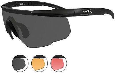 0284b7b4e02 Wiley X Eyewear 309 Saber Advanced Safety Glasses Matte Black frame 3 color  lens