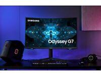 Samsung G7 Odyssey 32 Inch QLED WQHD 240Hz 1000R Curved G-Sync FreeSync+ Gaming Monitor