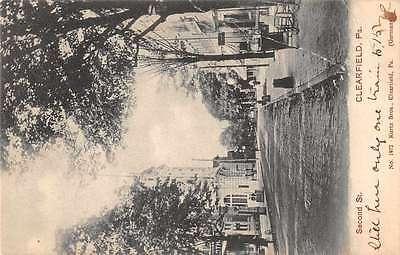 Clearfield Pennsylvania Sceond Street Antique Postcard J60161