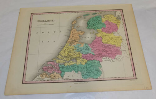 1827 Antique COLOR Map///HOLLAND