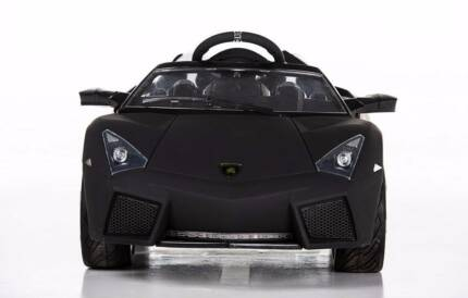 12v Lamborghini Style ride on car  - Matt Black