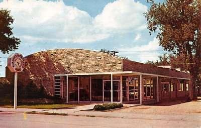 Weyauwega Wisconsin Farmers Merchant Bank Street View Vintage Postcard K82407