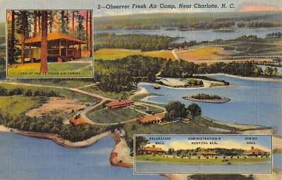 Charlotte North Carolina Observer Fresh Air Camp Antique Postcard K90375