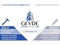 All architectural services for extensions to new builds