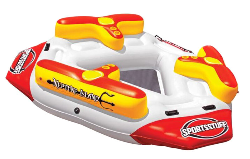 Airhead Sportsstuff Neptune Island 6 Person Inflatable River Float & Lounge Raft