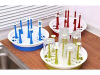 2 in 1Plastic Dish Drainer Drip Tray Plate Cutlery Rack Kitchen Sink Rack Holder