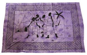 AFRIKA TRIBAL Africa Masai - Decke Batik Wandbehang Tagesdecke 200x140 cm GOA
