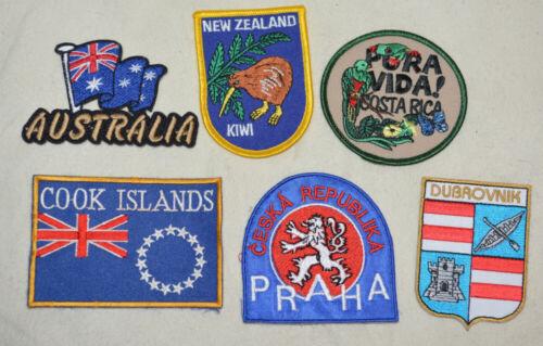 6 Vintage International Travel Patch Lot ceska praha cook islands dubrovnik rica