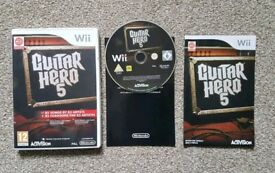 Wii Guitar Hero 5 Music Game excellent condition