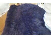 Faux fur wraps black wedding accessories