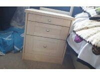 Maple bedside cabinet