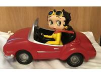 Large Betty Boop in car mint condition