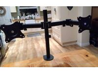 VonHaus Dual Monitor Screen Desk Mount with Tilt, Rotate & Swivel Functions