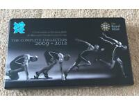 The Royal Mint London Olympics 2012 complete £5 coin collection £100