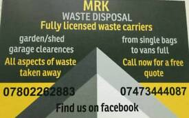 Rubbish waste removal service
