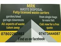 Rubbish waste removal service