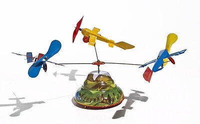 Flugzeugkarussell 3 Flieger Blechspielzeug Karussell - Made in Germany