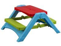 New - Pal Play Foldable Kids Picnic Table