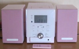 Pink Micro Hi-Fi stereo system