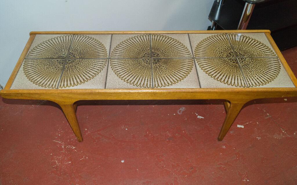Malkin Johnson Mid Century Tiled Coffee Table