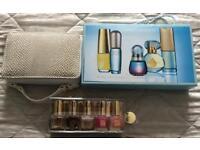 Estée Lauder Three Travel Sets - Pure Color Nail Polish Set, Makeup Bag Set and a Perfume Set