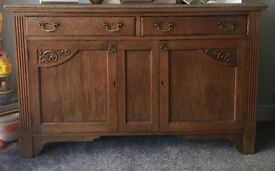 Solid oak sideboard , excellent condition