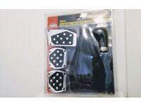 Car Manual Gear Brake Clutch Kit Non-Slip Foot Pedal Cover Set